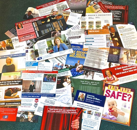 Just 12 days of slick, misleading political recycling trash junk mail.