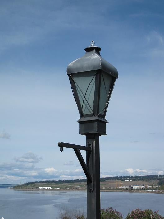 around the sound  steilacoom street lights  old and new
