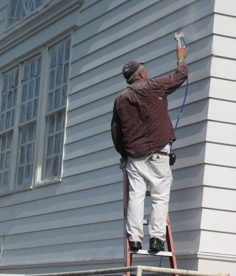 Painting Steilacoom's Town Hall