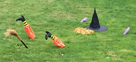 The Wicked Witch of the West was foiled by a Lakewood neighbor's sprinkler system.