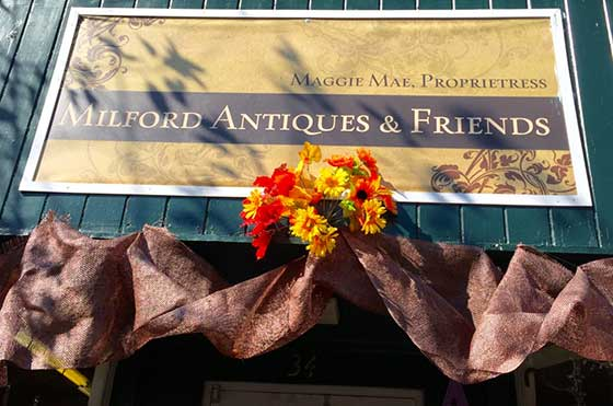 Photo 1: Haunted Antique Store located at 34 North Walnut St, Milford, Delaware. T: 302-424-1288.