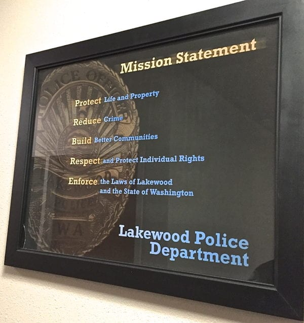 Lakewood Police Department Mission Statement.