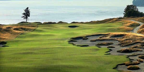 Internet: Chambers Bay Golf Course overlooks Puget Sound.
