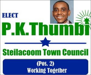 PK Thumbi for Steilacoom Town Council